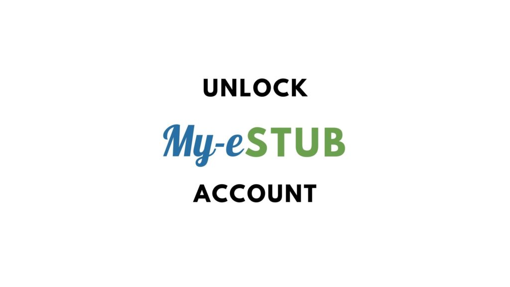 unlock my estub account